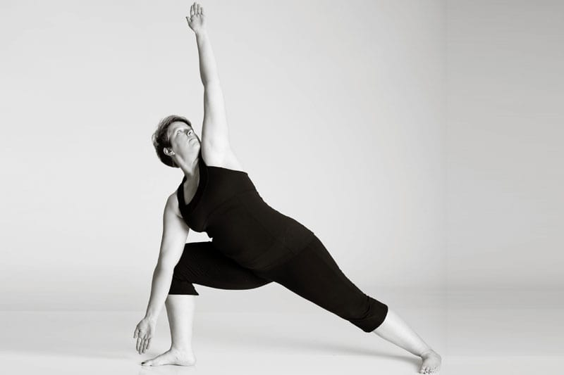 bikram hot yoga Asheville triangle pose