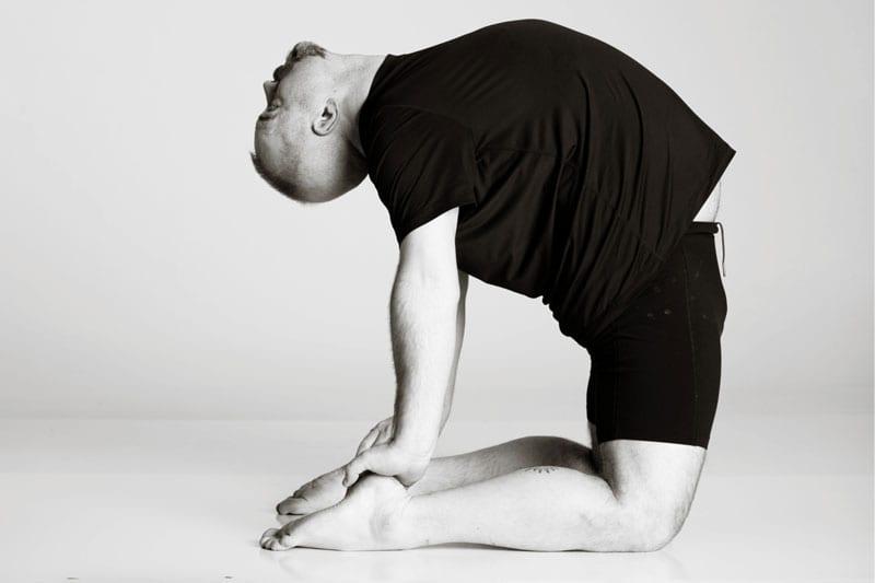 bikram hot yoga Asheville camel pose