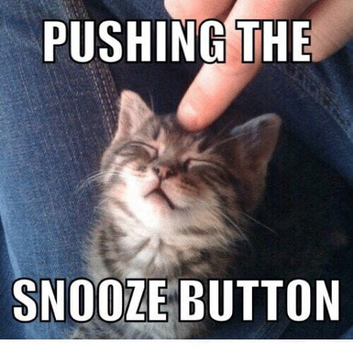 snooze button for yoga