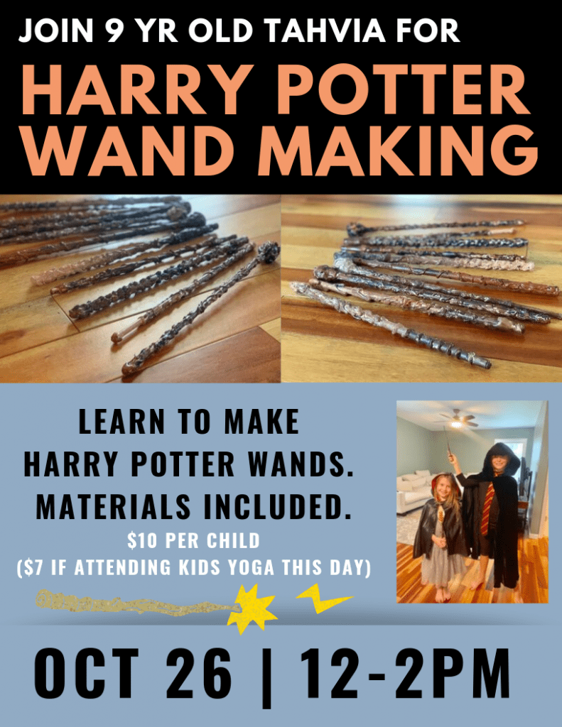 wand making halloween
